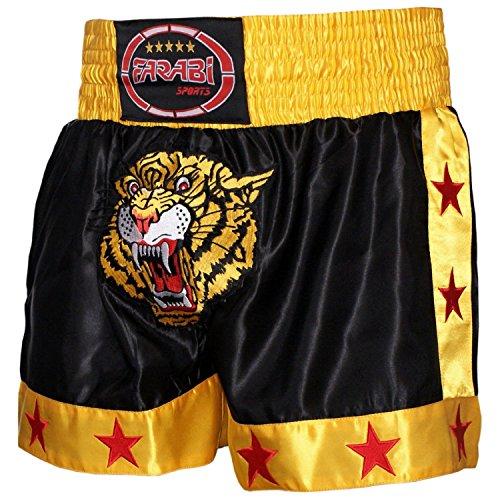 Farabi Muay Thai Short Kickboxing MMA Mix Martial Arts Training Short Boxing Trunk (M)