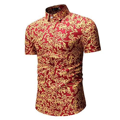 SSBZYES Chemises pour Hommes Chemises D'été à Manches Courtes pour Hommes Chemises Imprimées T-Shirts Chemises Décontractées à Manches Courtes pour Hommes Cardigans pour Hommes prix et achat