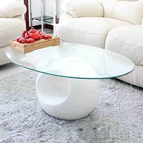 DecoInParis Table Basse Design en Verre MAXUS (Blanc)