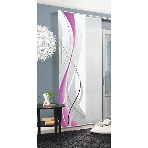 Home Fashion 87152-763 Panneau Japonais Polyester H:245 x W: 60 cm - BERRY