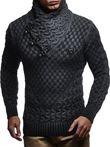 Leif Nelson pour des Hommes Pullover Pull en Tricot Hoodie arrêtez-Vous Veste d'hiver...