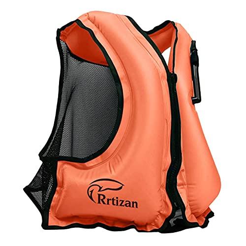 Rrtizan Adulte Unisexe Portable Gonflable Tuba Gilet pour la plongée, Convient pour 30-120KG
