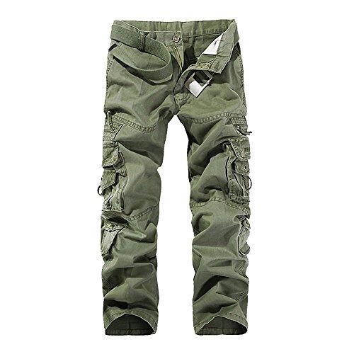 OEAK Pantalon de Travail Homme Cargo Chino Vintage Pantalon Randonnée Militaire Casual...