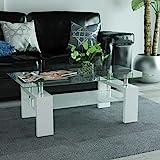 Festnight Table Basse avec tagre infrieure 110x60x40cm