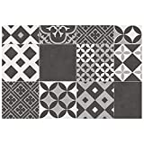 Tapis rectangle 50x75 vinyle noir marbella