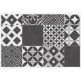 Tapis rectangle 50x75 vinyle noir marbella