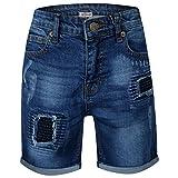 A2Z 4 Kids Enfants Garçons Shorts Designer Bleu Foncé Denim - Boys Denim Short Ripped Dark Blue_7-8