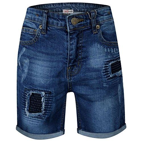 A2Z 4 Kids® Enfants Garçons Shorts Designer Bleu Foncé Denim - Boys Denim Short Ripped Dark...