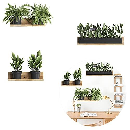 Stickers Muraux Plante en Pot, Autocollant Mural Plante Verte,...