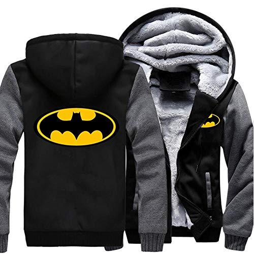 QSCVG Sweats à Capuche Batman Sweat-Shirt Imprimé Hiver Hiver Plus Vestes à Manches Longues Cachemire A-X-Large prix et achat