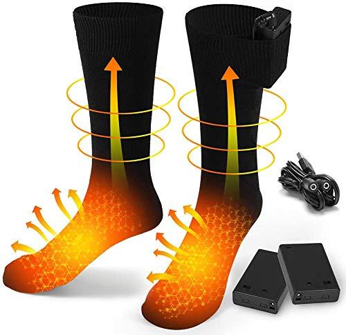 EDUPUP Chaussettes chauffantes électriques pour Homme et Femme - Chaussettes chauffantes en...