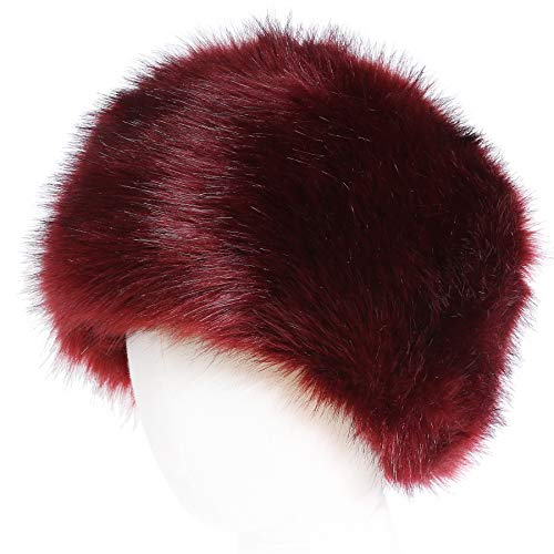 soul young Femmes Glamorous Fausse Fourrure Russe Chapka Hiver(Rouge)