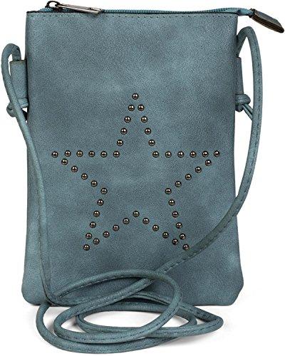 styleBREAKER Mini Sacoche avec découpes en Forme d'étoile, Sac en bandoulière, Sac à Main,...