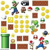 Thedecofactory 54144 Stickers muraux Super Mario Scene, Papier, Multicolore, 48 x 8 x 8 cm