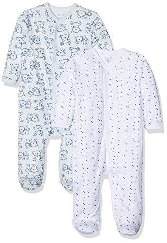 Care - Pyjama - Bébé garçon - Lot de 2, Bleu - Blau (Light blue 700), 3 mois (Taille...