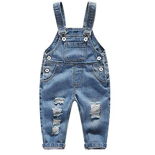 FEOYA Salopettes en Jeans Enfant Bébé Fille Garçon 12-18 Mois