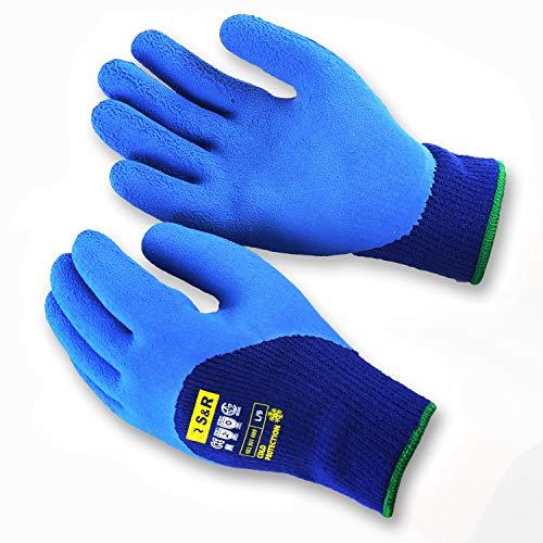 S&R 2 Paires de Gants de Travail d'hiver en acrylique, revêtement en latex, taille XL/10, pour...