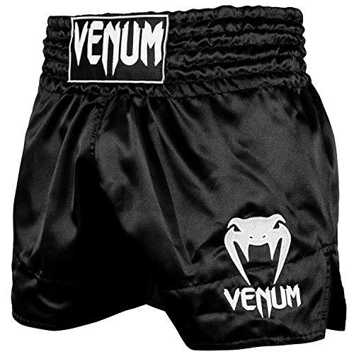 Venum Classic Short de Muay Thai Mixte Adulte, Noir/Blanc, FR (Taille Fabricant : XS)