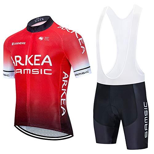 STEPANZU Homme Maillot de Cyclisme Manches Courtes Veste Cycliste+Cuissard 3D Gel Coussin...