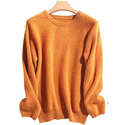 ROirEMJ Pull Femme,Pull O-Neck Lady Orange Pull Plus Épais Mérinos Laine Cachemire Pull pour Femmes Soft Pure Colors Pullovers Manches Longues,XXL prix et achat