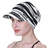 FocusCare Casquette Gavroche pour Femmes De Chemo en Coton Chapeaux De Cowboy Bonnet Seau pour Perte De Cheveux