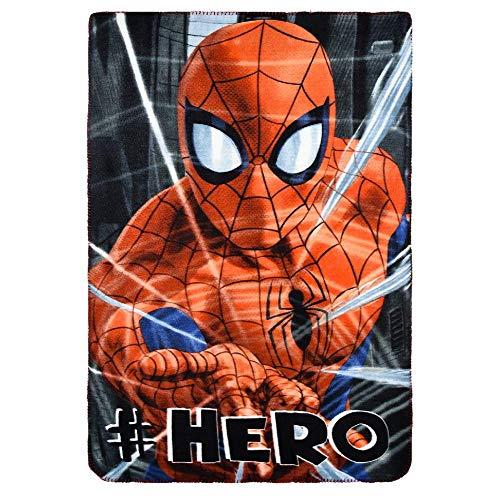 Suncity Plaid Motif Spiderman, Marvel, Couverture Polaire 100 * 150 cm