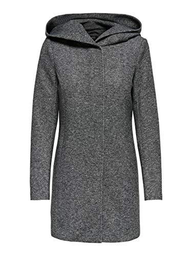 ONLY onlSEDONA Light Coat OTW Noos Manteau, Gris (Dark Grey Melange), 38 (Taille Fabricant: Medium) Femme