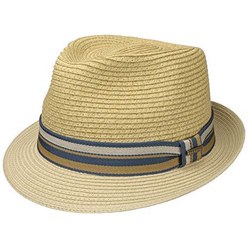Stetson Chapeau en Paille Licano Toyo Trilby Homme - de Plage Soleil avec Ruban Gros Grain...