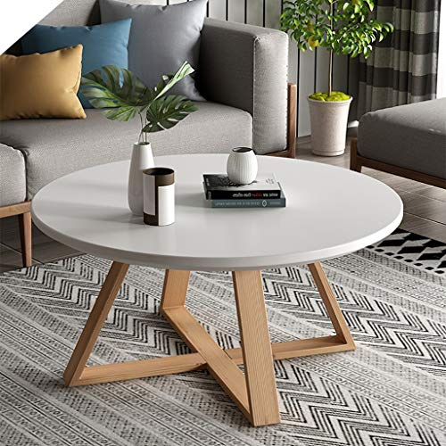 Table basse ronde en bois Table d'appoint en bois Table d'appoint...