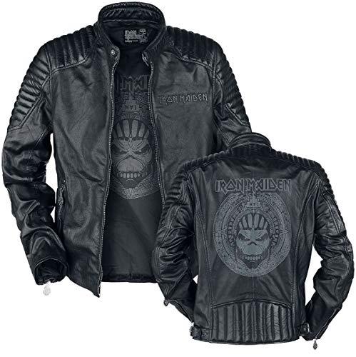 Iron Maiden Book Of Souls Crâne Homme Veste en cuir noir L, 100% Cuir, Regular / Coupe...