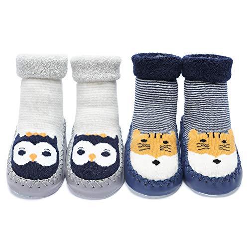 Adorel Chaussons Chaussettes Anti-dérapantes Bébé Lot de 2 Aniaml 19-21 (Taille Fabricant: 13) prix et achat