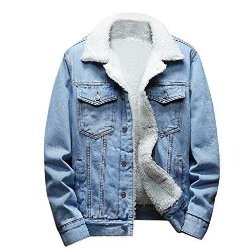 KPPONG Homme Veste en Jeans Hiver Chaud Epais Blouson Trucker Cowboy Manteau en Denim Jacket -...
