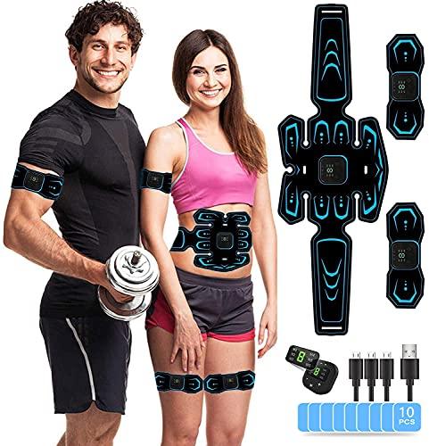 AILEDA Ceinture Abdominale Electrostimulation,6 Modes 10 Niveaux pour Electrostimulateur Musculaire Femme Homme Entraînement Abdominal Rechargeable prix et achat