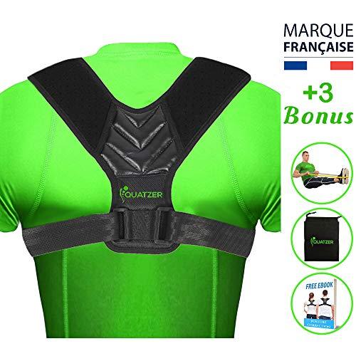 Correcteur de posture dos - redresse dos Homme et Femme - Ceinture dorsale réglable pour...