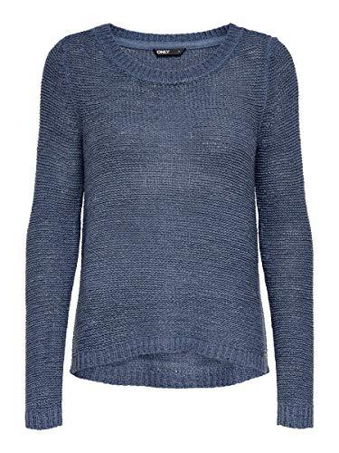 Only 15113356, Pull Femme, Bleu (Vintage Indigo), 34