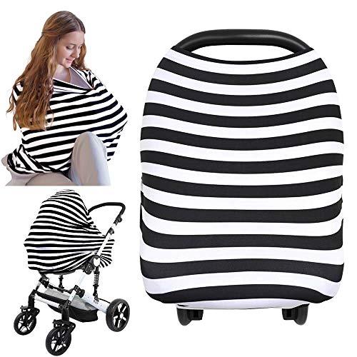 Dais pour siège-auto - Dais pour siège-auto KeaBabies - Couverture d'allaitement tout-en-un - Dais pour siège-auto pour bébés garçons et filles … (BFF Noir)