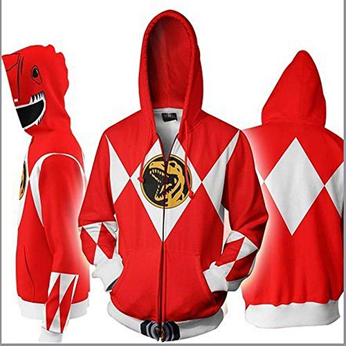 Hoodies Sweat à Capuche Rangers Zipper 3D Power Imprimé Manches Longues à Capuche Sweat à...