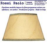 Paolo Rossi - Abat-jour conique imitation Vieux parchemin avec finition or - Production propre (fabriqué en Italie) diamètre cm 40