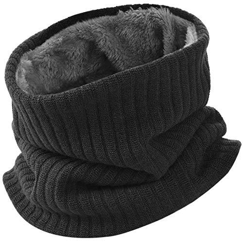 VBIGER Écharpe Femme et Homme Tour de Cou Chaud Tricot Foulard - noir - taille unique