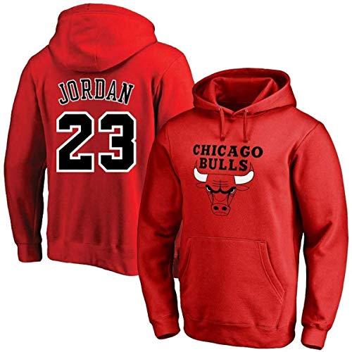Shelfin Maillot Homme NBA Basketball Chicago Bulls Hoodie No.23 Jordan Basketball Jersey Pull...
