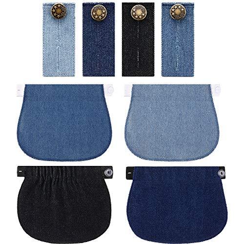 8 Pièces Extension Pantalon de Maternité Rallonge Boutons de Pantalon Élastique Extension de...