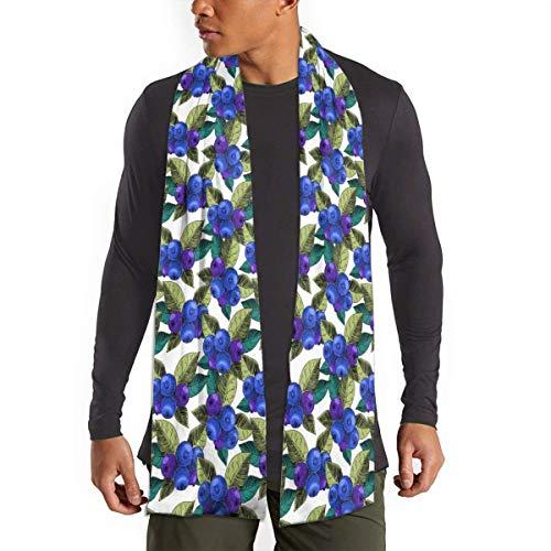 MoMo Blueberry Baies hommes Cachemire Silky chaud - Coton Echarpes pour l'hiver