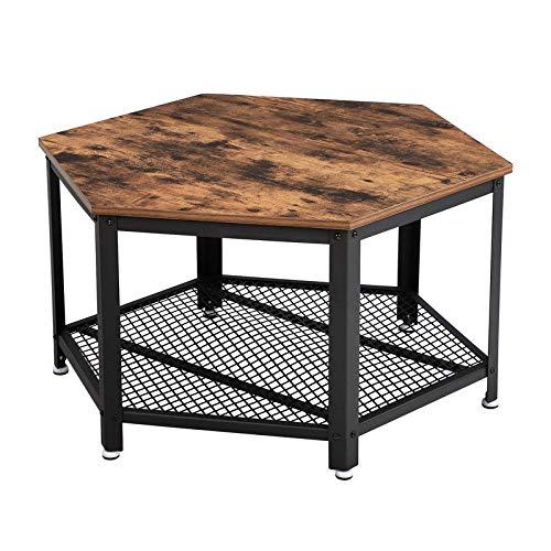 VASAGLE Table Basse Vintage, Table d'appoint, Table de Salon,...