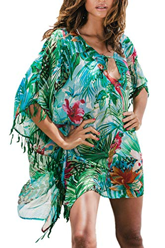 LikeJump Femmes T-Shirt de Plage Tunique Manches Chauve-Souris Cover Up Maillot de Bain prix et achat