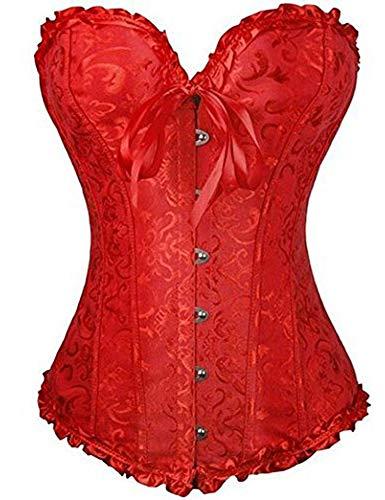 FeelinGirl Corset Femme Bustier Grande Taille Serrée Minceur Ventre Plat Lycra Jacquard Lacets...