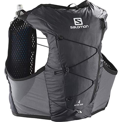 Salomon Active Skin 4 Set Gilet D'hydratation 4L Homme 2x Soft Flasks Incluses Pour Trail...