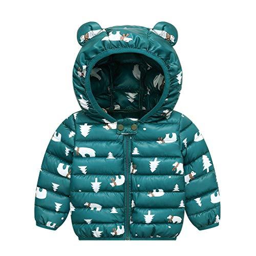 PROTAURI Doudoune pour bébé, Manteau à Capuche d'oreille d'hiver, Tenues d'extérieur...
