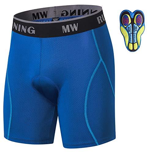 MEETWEE Shorts de Cyclisme Homme, Caleçon Vélo Padded 4D Gel Cuissard Velo Fast Drying...