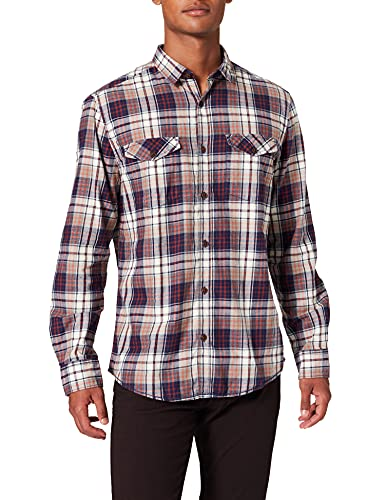 Pioneer Shirt L/s Check Chemise Casual, Multicolore (Blueberry 519), S Homme