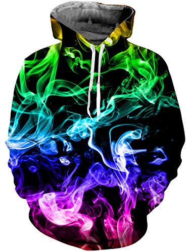 NEWISTAR Unisexe Hommes Femmes Sweats à Capuche Pull à Manches Longues Hiver Sweat-Shirts 3D Hoodies S-4XL, Blackhole, XXL prix et achat